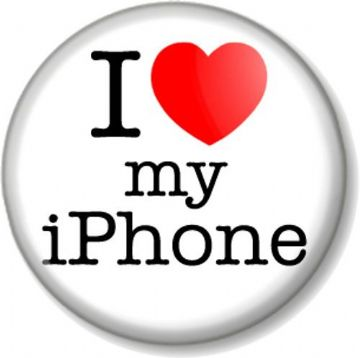 I Love / Heart my iPhone Pin Button Badge Apple iMac iPod iTunes